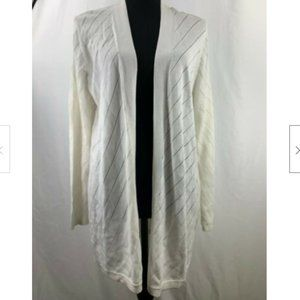 Vince Camuto Women's Open Front Pointelle Cardigan